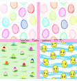 set easter seamless patterns eps 10 vector image
