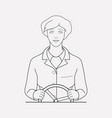 steering icon line element of vector image vector image