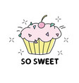 sweet cupcake design - textile vector image