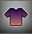 t-shirt sign violet gradient vector image