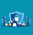 technology security concept business data vector image