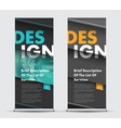 template roll-up banner with diagonal elements at vector image vector image