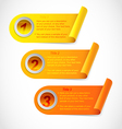 three step information stickers vector image