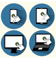 Touchscreen icons set vector image vector image