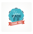 Vintage thank you card vector image vector image