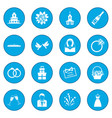 wedding icon blue vector image vector image