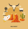 wild west composition vector image vector image