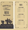 wine menu with price list and still life vector image vector image