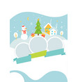 winter holidays events poster template with snowy vector image vector image