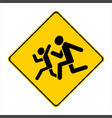 yellow caution sign children vector image