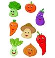 Cute vegetable cartoon vector image