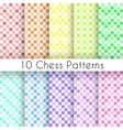 Chess plaid seamless patterns Endless texture vector image