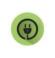 plug icon with shadow on a green circle vector image