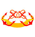 emblem two crossed anchors flag vector image