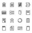 16 page icons vector image vector image