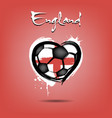 4539 - sweden heart soccer vector image vector image
