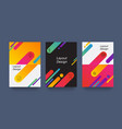abstract colorful layout trendy wallpaper vector image vector image