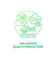 air and water quality protection concept icon