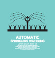 Automatic Sprinklers Watering vector image vector image