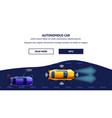 autonomus car transport flat vector image