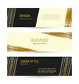 banner black and beige with greek gold ornament vector image vector image