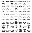 Beard and moustache vector image vector image