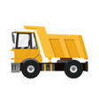 big yellow dump truck tipper truck isolated on vector image vector image