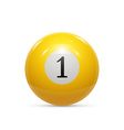Billiard one ball isolated on a white background vector image vector image