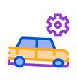 broken car gear icon outline vector image vector image