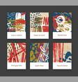 bundle flyer or postcard templates vector image vector image