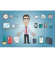 Business man character pack vector image vector image