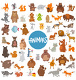 cartoon animal characters huge set vector image