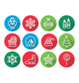 Christmas flat design icons - Xmas tree angel vector image vector image