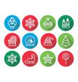 Christmas flat design icons - Xmas tree angel