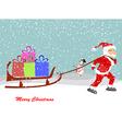 Christmas Santa Claus move gifts vector image vector image