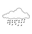 cloud sky silhouette with rain drops vector image vector image