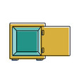 color strong box object open to protection vector image vector image