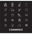 commerce editable line icons set on black vector image