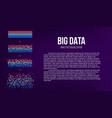 creative of big data analysis vector image vector image