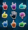 cursor hands vector image vector image