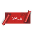 Cut red sale banner