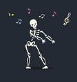 dancing skeleton 3 vector image vector image