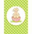 Easter Rabbit green vector image vector image