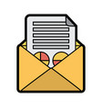 email message document envelope business graph vector image