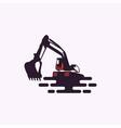excavator logo download vector image vector image