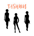 fashion woman silhouettesa in loose clothes vector image