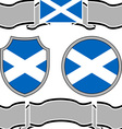flag of scotland with banners vector image vector image
