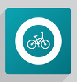flat bike icon vector image