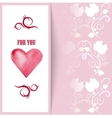 flyer card with hearts and place for text vector image vector image