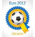 football badge symbol vector image vector image